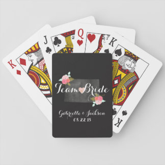 Monogram Colorado State Chic Floral Couples Playing Cards