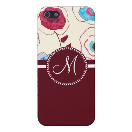 Monogram Colorful Spring Flowers Birds Mulberry Cases For iPhone 5