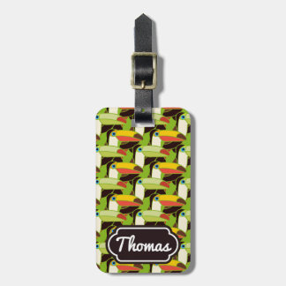 Monogram Colorful Toucans Bag Tag