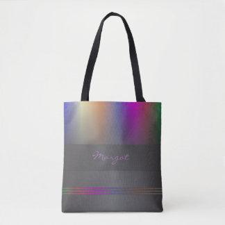 Monogram colour spectrum purple, violet and black tote bag