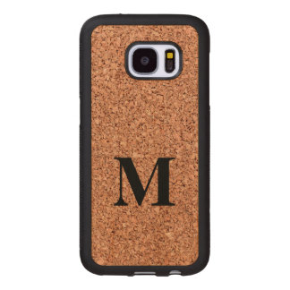 Monogram Cork Board Wood Samsung Galaxy S7 Case
