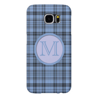 Monogram Cornflower Blue Plaid Samsung Galaxy S6 Cases