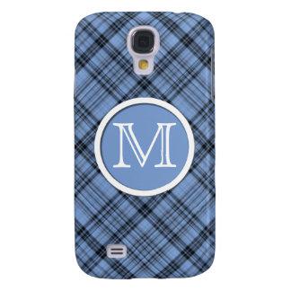 Monogram Cornflower Blue Plaid Samsung Galaxy S4 Cover