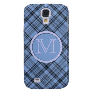 Monogram Cornflower Blue Plaid Samsung Galaxy S4 Covers