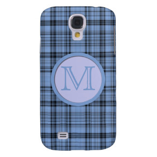 Monogram Cornflower Blue Plaid Samsung Galaxy S4 Cases