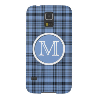 Monogram Cornflower Blue Plaid Cases For Galaxy S5