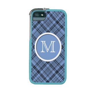 Monogram Cornflower Blue Plaid iPhone 5 Case