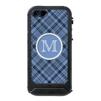 Monogram Cornflower Blue Plaid iPhone 5 Case Incipio ATLAS ID™ iPhone 5 Case