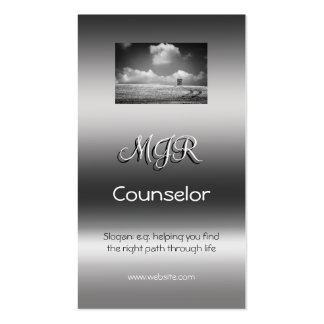 Monogram, Counselling Services, metallic-effect Pack Of Standard Business Cards