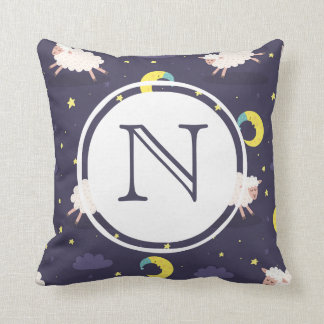 Monogram Counting Sheep Pillow