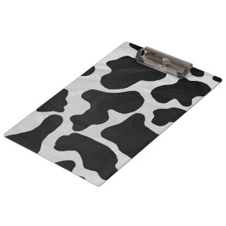 Monogram Cow Black and White Clipboard