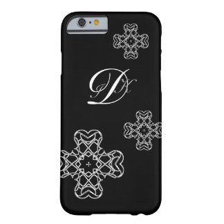 MONOGRAM & CROSS | initials on dark colors Barely There iPhone 6 Case