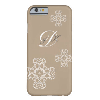 MONOGRAM & CROSS | initials on pale colors Barely There iPhone 6 Case