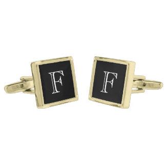 Monogram Custom Gold Finish Cufflinks