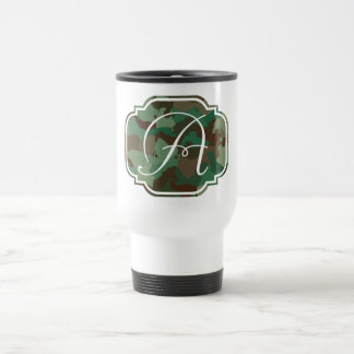 Monogram - Customizable Camo Travel Mug