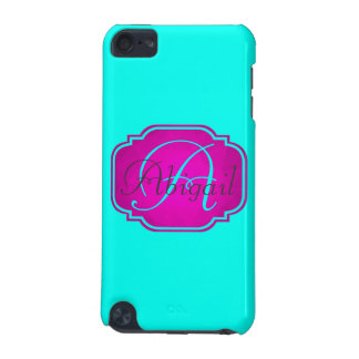 Monogram - Customizable Pink and Blue iPod Touch (5th Generation) Cover