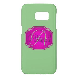 Monogram - Customizable Pink and Green