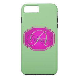 Monogram - Customizable Pink and Green iPhone 8 Plus/7 Plus Case