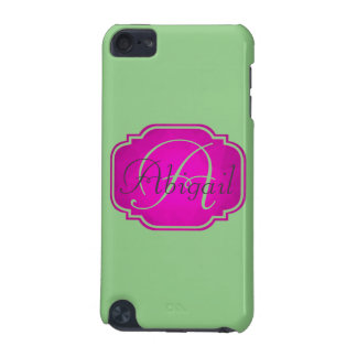 Monogram - Customizable Pink and Green iPod Touch 5G Cases