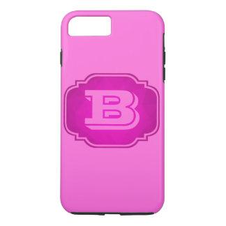 Monogram - Customizable Pink Design iPhone 8 Plus/7 Plus Case