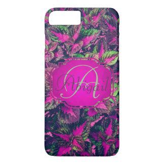 Monogram - Customizable Pink Leaf Camo iPhone 8 Plus/7 Plus Case