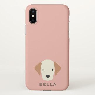 Monogram. Cute Beagle Puppy. iPhone X Case