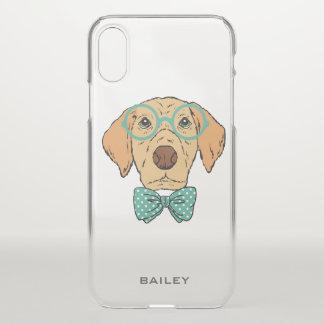 Monogram. Cute & Funny Labrador Retriever Hipster iPhone X Case