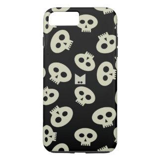 Monogram Cute Kawaii Skull Patterned iPhone 8 Plus/7 Plus Case