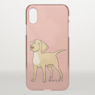 Monogram. Cute Labrador Retriever. iPhone X Case