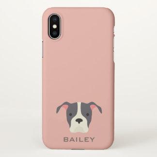 Monogram. Cute Puppy Dog. iPhone X Case