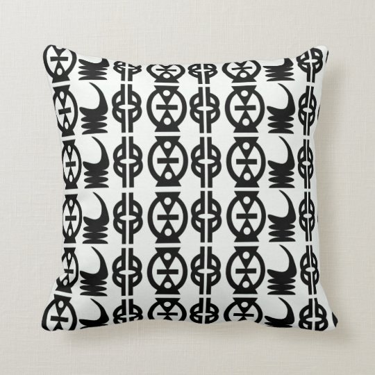 Monogram Cute Throw Pillows With African Patterns