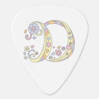 Monogram D and name Delta custom guitar picks