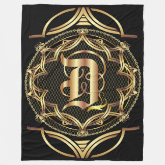 Monogram D CUSTOMIZE To Change Background Color Fleece Blanket