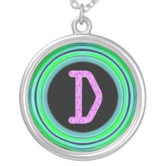 "Monogram ""D"" Round Pendant Necklace"