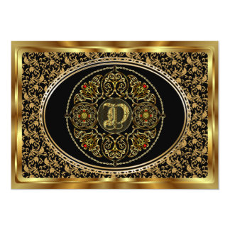 Monogram D One of a kind View notes please Card