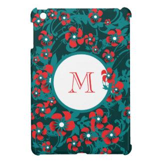 Monogram daisy flower cover for the iPad mini