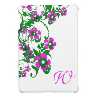 Monogram daisy flower iPad mini cover
