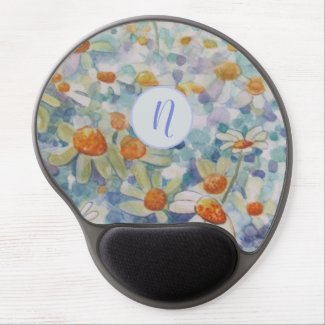 Monogram Daisy Gel Mouse Mat