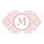 Monogram Damask Business Cards