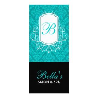 Monogram Damask Design Rack Card