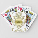 Monogram Damask Personalised Playing Cards