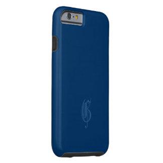 Monogram dark blue iPhone 6 case