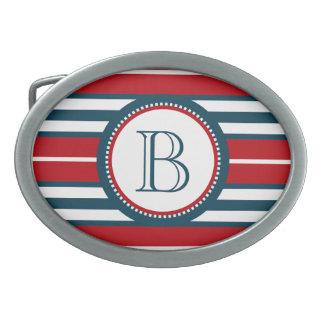 Monogram design belt buckle