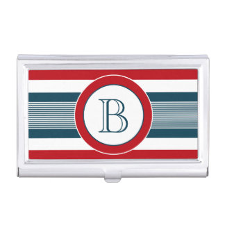 Monogram design business card holder