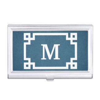 Monogram design business card holder