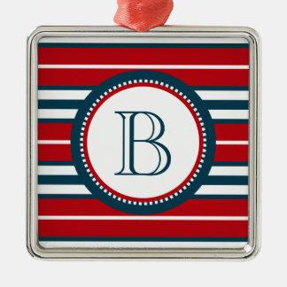 Monogram design christmas ornament