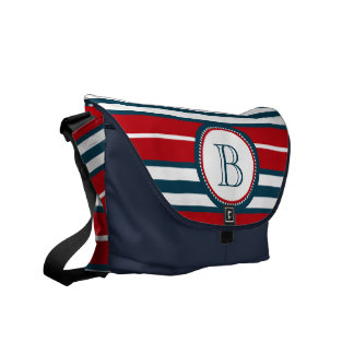 Monogram design commuter bag