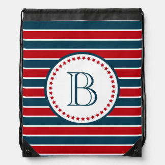Monogram design drawstring bag
