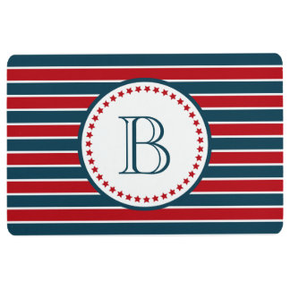 Monogram design floor mat