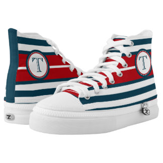 Monogram design high tops